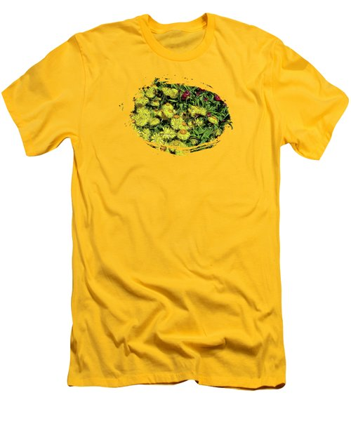 Smiling Daisies Men's T-Shirt (Slim Fit) by Thom Zehrfeld
