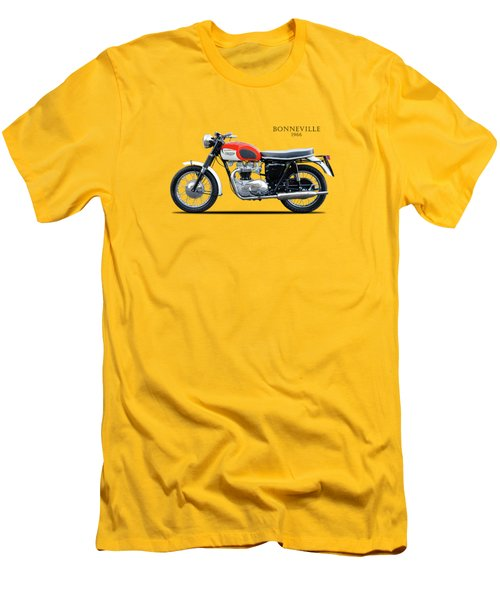 Triumph Bonneville 1966 Men's T-Shirt (Slim Fit) by Mark Rogan