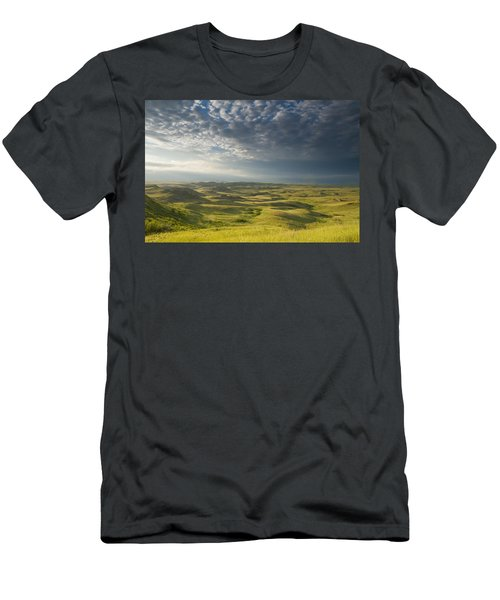 Killdeer Badlands In The East Block Of Men's T-Shirt (Slim Fit) by Dave Reede