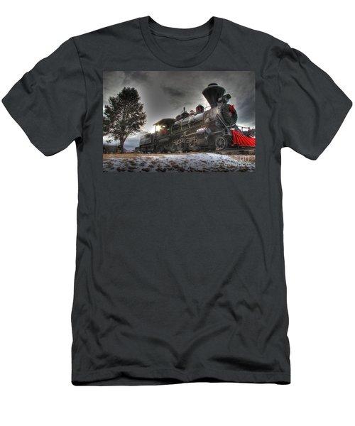 Men's T-Shirt (Slim Fit) featuring the photograph 1880 Train by Bill Gabbert