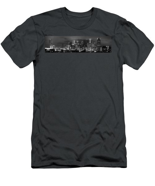 Gotham City - Los Angeles Skyline Downtown At Night Men's T-Shirt (Slim Fit) by Jon Holiday