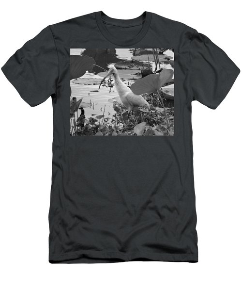 American White Ibis Black And White Men's T-Shirt (Slim Fit) by Dan Sproul