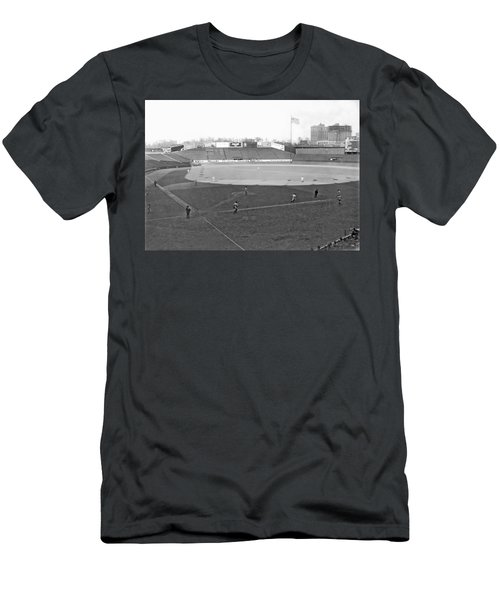 Baseball At Yankee Stadium Men's T-Shirt (Slim Fit) by Underwood Archives