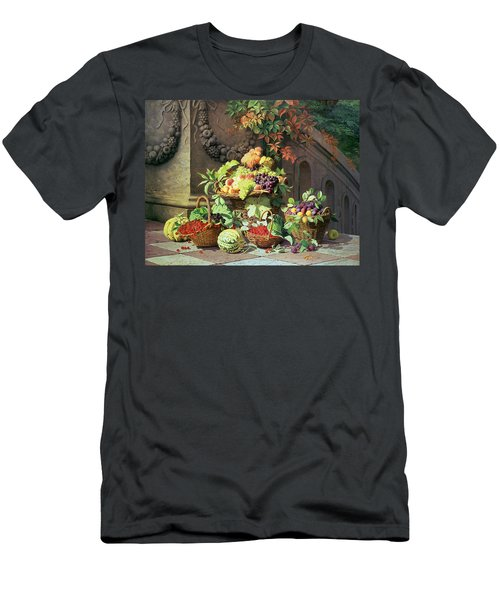 Baskets Of Summer Fruits Men's T-Shirt (Slim Fit) by William Hammer
