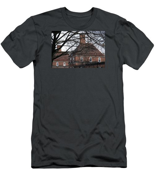 The British Ambassador's Residence Behind Trees Men's T-Shirt (Slim Fit) by Cora Wandel