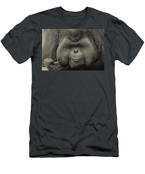 Bornean Orangutan II Men's T-Shirt (Slim Fit) by Lourry Legarde