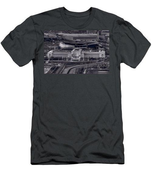 Chicago Icons Bw Men's T-Shirt (Slim Fit) by Steve Gadomski