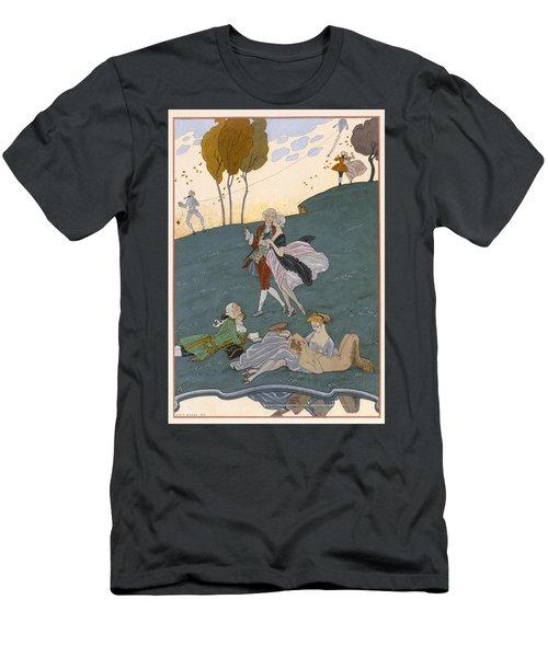 Fetes Galantes Men's T-Shirt (Slim Fit) by Georges Barbier