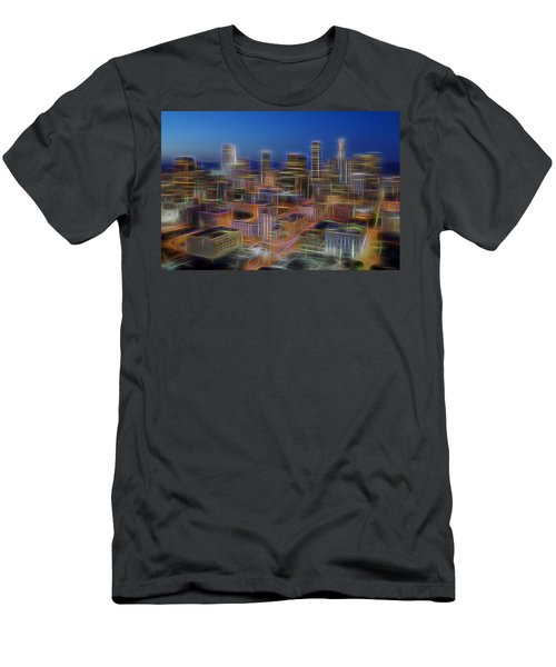 Glowing City Men's T-Shirt (Slim Fit) by Kelley King