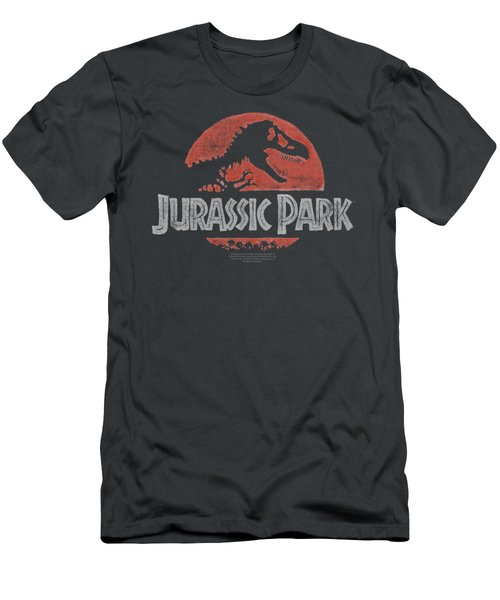Jurassic Park - Faded Logo Men's T-Shirt (Slim Fit) by Brand A