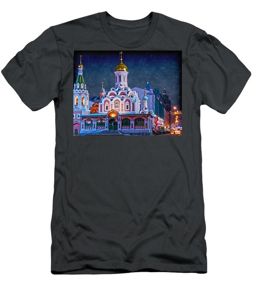 Kazan Cathedral. Red Square. Moscow Russia Men's T-Shirt (Slim Fit) by Juli Scalzi