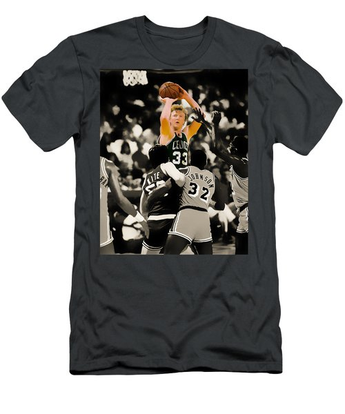 Larry Bird Men's T-Shirt (Slim Fit) by Brian Reaves
