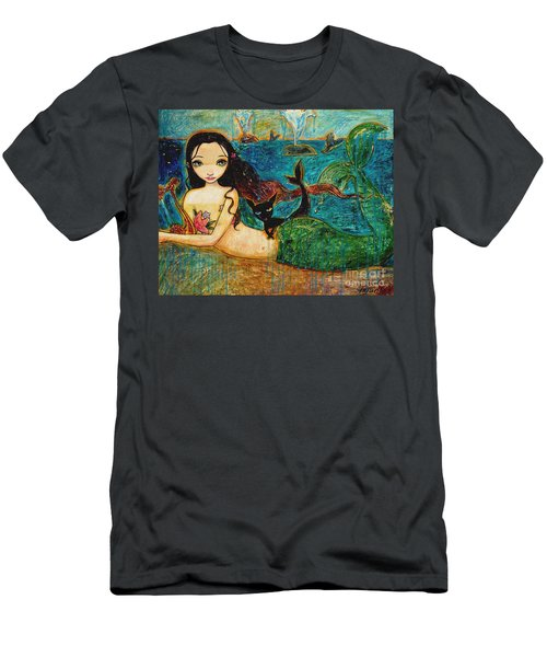 Little Mermaid Men's T-Shirt (Slim Fit) by Shijun Munns