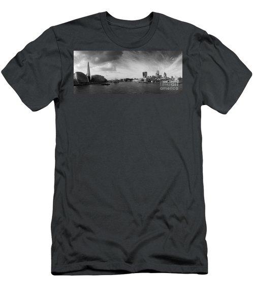 London City Panorama Men's T-Shirt (Slim Fit) by Pixel Chimp
