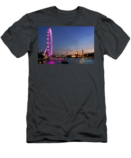 London Eye Men's T-Shirt (Slim Fit) by Rod McLean