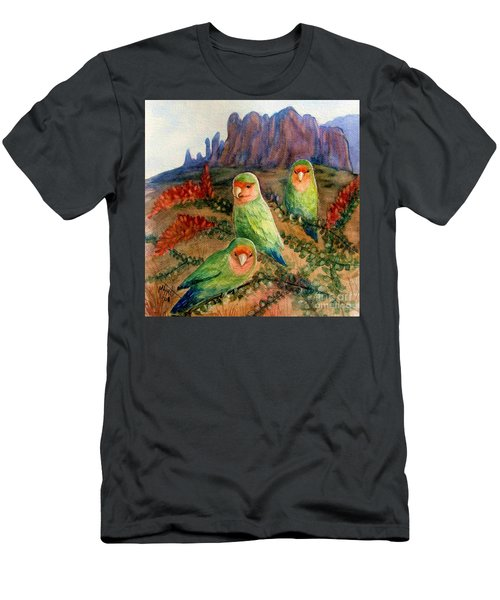 Lovebirds Men's T-Shirt (Slim Fit) by Marilyn Smith