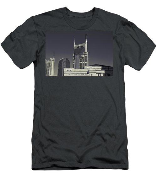 Nashville Tennessee Batman Building Men's T-Shirt (Slim Fit) by Dan Sproul