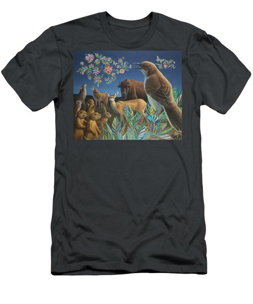 Nocturnal Cantata Men's T-Shirt (Slim Fit) by James W Johnson