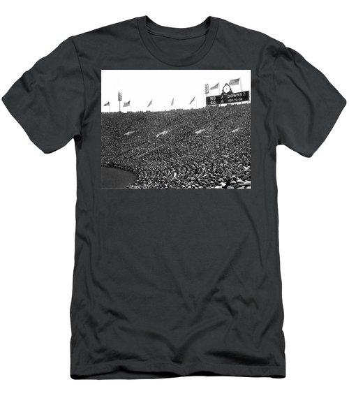 Notre Dame-usc Scoreboard Men's T-Shirt (Slim Fit) by Underwood Archives
