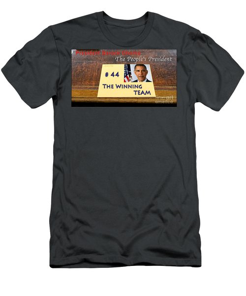 Number 44 - The Winning Team Men's T-Shirt (Slim Fit) by Terry Wallace