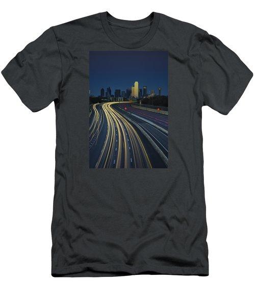 Oncoming Traffic Men's T-Shirt (Slim Fit) by Rick Berk