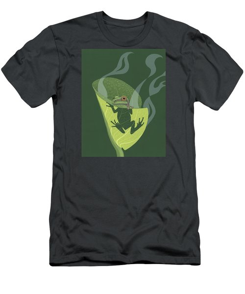 Pacific Tree Frog In Skunk Cabbage Men's T-Shirt (Slim Fit) by Nathan Marcy