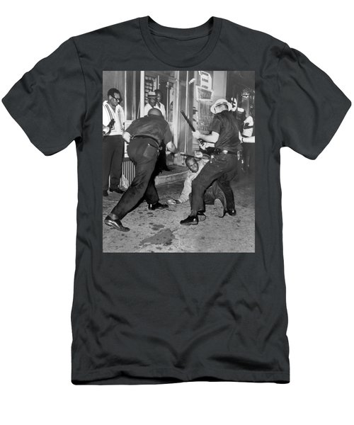 Protester Clubbed In Harlem Men's T-Shirt (Slim Fit) by Underwood Archives