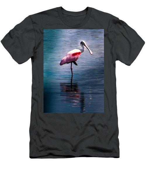 Roseate Spoonbill Men's T-Shirt (Slim Fit) by Karen Wiles