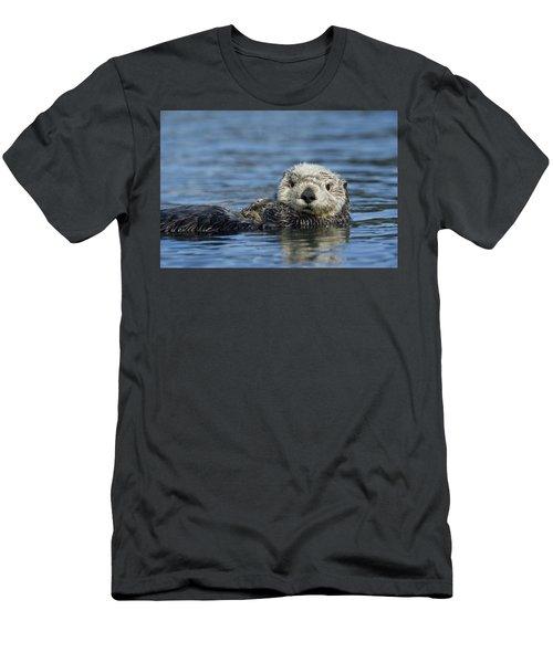 Sea Otter Alaska Men's T-Shirt (Slim Fit) by Michael Quinton