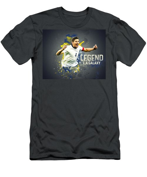 Steven Gerrard Men's T-Shirt (Slim Fit) by Taylan Apukovska