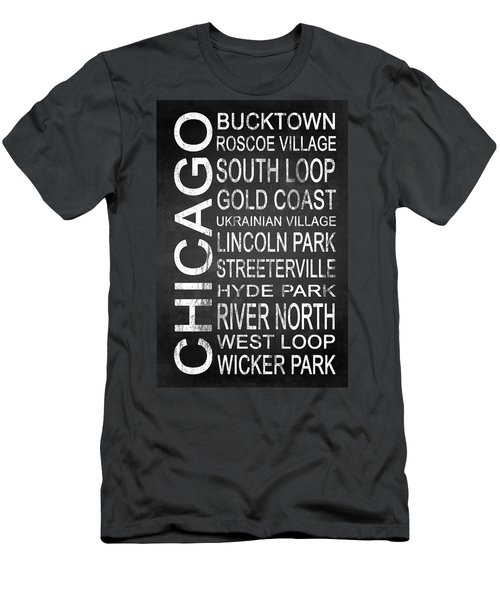 Subway Chicago 2 Men's T-Shirt (Slim Fit) by Melissa Smith