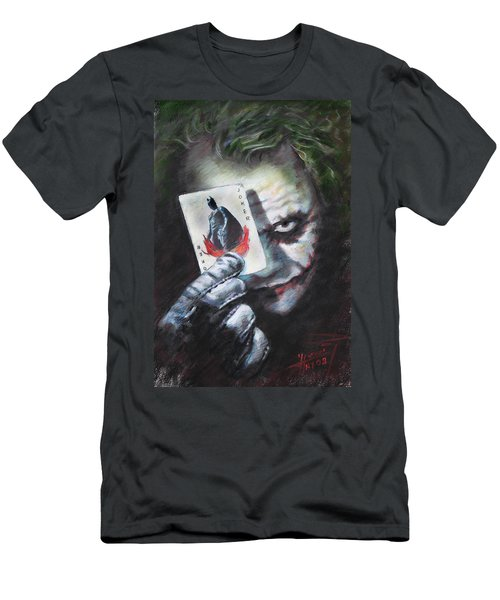 The Joker Heath Ledger  Men's T-Shirt (Slim Fit) by Viola El