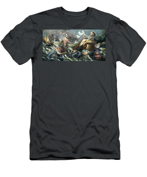 There's Something Fowl Afloat Men's T-Shirt (Slim Fit) by Patrick Anthony Pierson