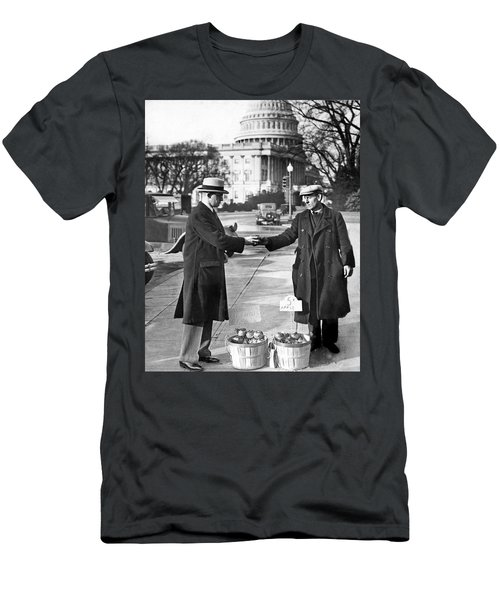 Unemployed Man Sells Apples Men's T-Shirt (Slim Fit) by Underwood Archives