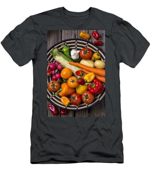 Vegetable Basket    Men's T-Shirt (Slim Fit) by Garry Gay