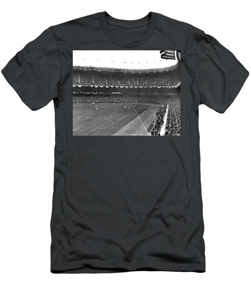 View Of Yankee Stadium Men's T-Shirt (Slim Fit) by Underwood Archives