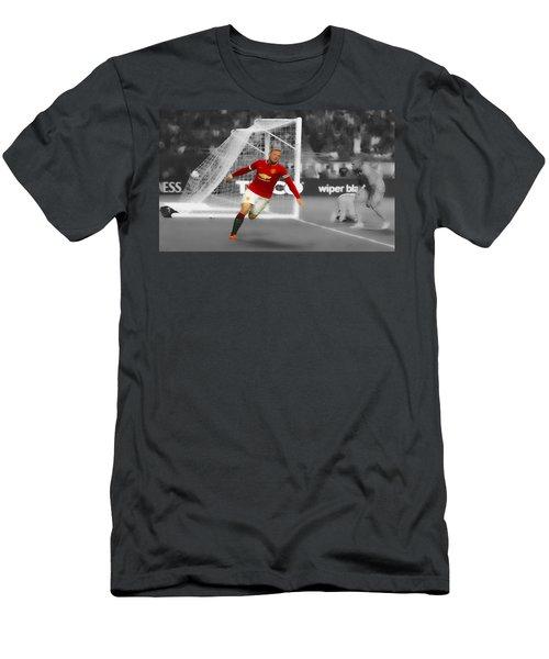 Wayne Rooney Scores Again Men's T-Shirt (Slim Fit) by Brian Reaves
