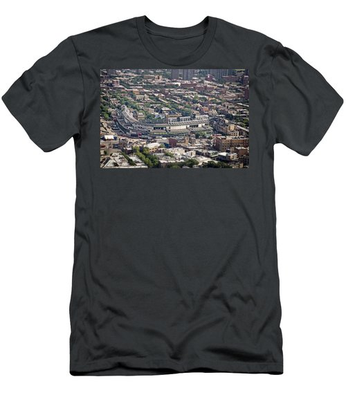 Wrigley Field - Home Of The Chicago Cubs Men's T-Shirt (Slim Fit) by Adam Romanowicz