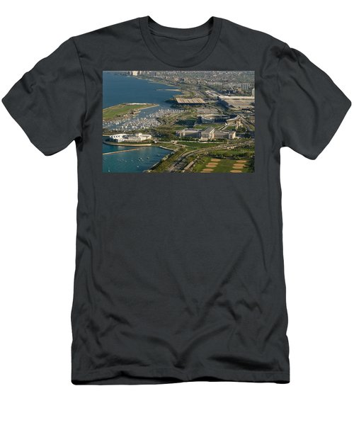 Chicagos Lakefront Museum Campus Men's T-Shirt (Slim Fit) by Steve Gadomski