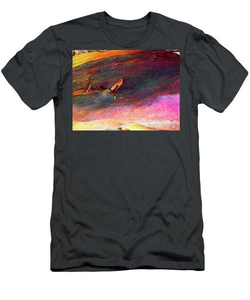 Men's T-Shirt (Slim Fit) featuring the digital art Landing by Richard Laeton