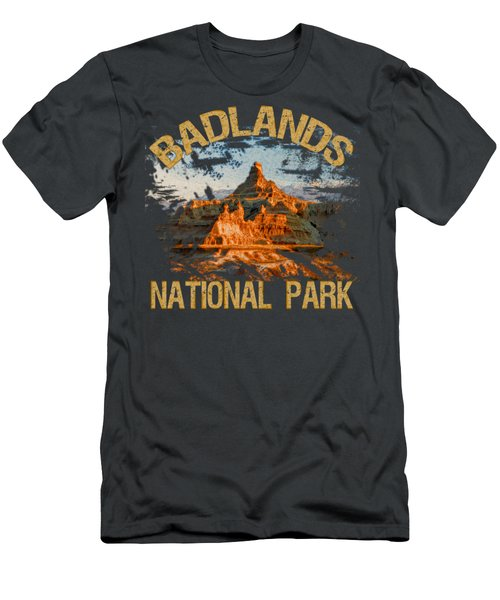 Badlands National Park Men's T-Shirt (Slim Fit) by David G Paul