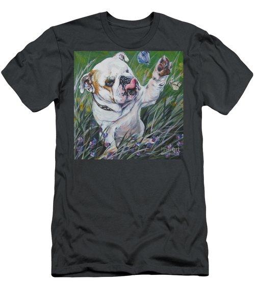 English Bulldog Men's T-Shirt (Slim Fit) by Lee Ann Shepard