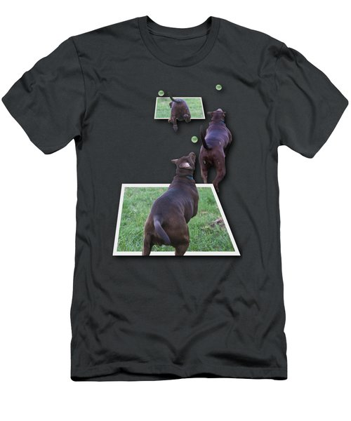 Keep Your Eye On The Ball Men's T-Shirt (Slim Fit) by Roger Wedegis