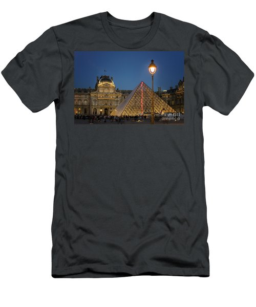 Louvre Museum At Twilight Men's T-Shirt (Slim Fit) by Juli Scalzi