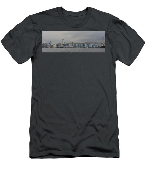 Rainbow Bridge Men's T-Shirt (Slim Fit) by Megan Martens