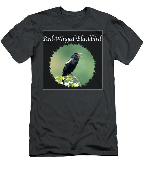Red-winged Blackbird Men's T-Shirt (Slim Fit) by Jan M Holden