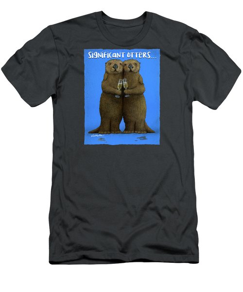 Significant Otters... Men's T-Shirt (Slim Fit) by Will Bullas