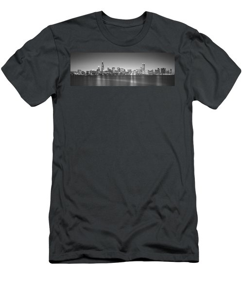 Skyscrapers At The Waterfront, Hancock Men's T-Shirt (Slim Fit) by Panoramic Images