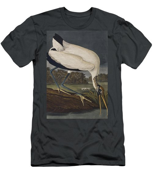 Wood Ibis Men's T-Shirt (Slim Fit) by John James Audubon