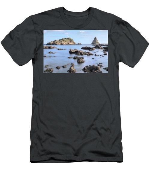 Aci Trezza - Sicily Men's T-Shirt (Slim Fit) by Joana Kruse